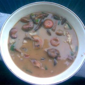 寒菌排骨汤